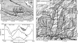 San Gabriel Map Climate Change Versus Landslide Origin Of Fill Terraces In A