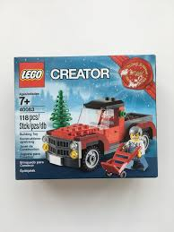 lego jeep set lego seasonal christmas tree truck set 40083