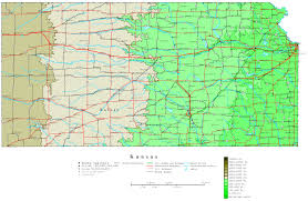 Map Of Us States And Cities by Kansas Contour Map