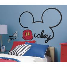 mickey mouse ears wall decal fun rooms for kids mickey mouse ears wall decals