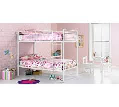 Buy HOME Samuel Single Bunk Bed Frame White At Argoscouk - White bunk beds uk