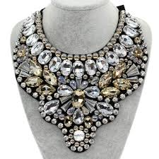 big fashion statement necklace images Manilai women handmade exaggerate crystal big necklace bead bib jpg