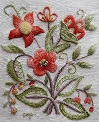 lowell sampler jacobean vtg finished elsa williams kit floral