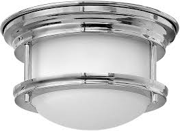 Flush Lighting Fixtures Hinkley 3308cm Qf Hadley Chrome Led Flush Mount Ceiling Light