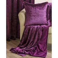 Plum Velvet Curtains Luxury Crushed Velvet Fully Lined Eyelet Curtains Plum