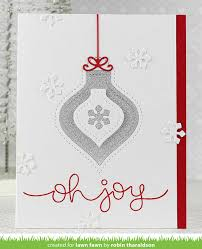 the lawn fawn robin s stitched ornaments card lawn