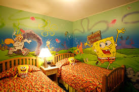 Kids Themed Rooms by Spongebob Themed Room At The Nickelodeon Hotel And Resort Good