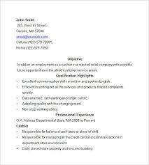 resume examples for cashier jospar