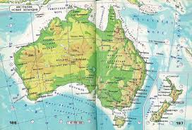 atlas map of australia physical map of australia and new zealand atlas maps on the web