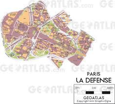 La City Map Geoatlas City Maps La Defense Map City Illustrator Fully
