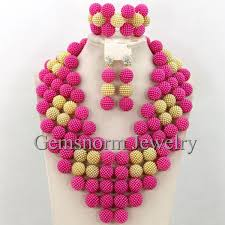 free necklace pattern images Buy gorgeous blue african beads balls necklace jpg