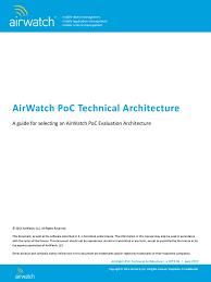 airwatch poc technical architecture proxy server load