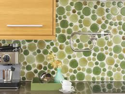 marvelous round glass tiles backsplash my home design journey