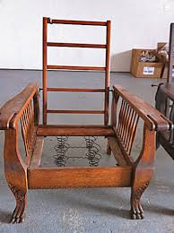 Building A Morris Chair Original Antique Light Oak Large Morris Chair With Carved Claw