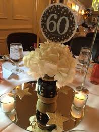 60th birthday party decorations 60th birthday party centerpiece in black and gold pinteres