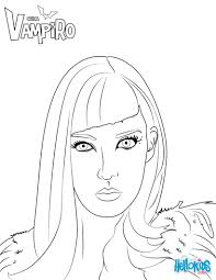 daisy from chica vampiro coloring pages hellokids com