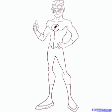 flash running coloring pages coloring pages