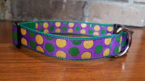 dog collar mardi gras chevron mardi gras polka dot dog collar large