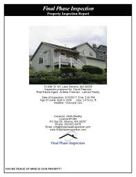 house inspection report sample home inspection reports final phase inspection 360 652 6678 final phase inspection reports