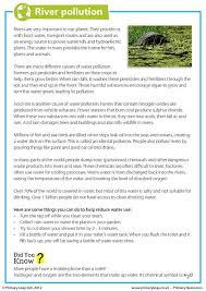 primaryleap co uk river pollution worksheet