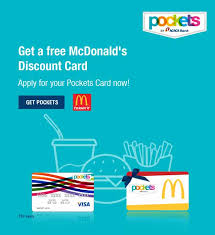 card pockets pockets card offer free mcdonald s discount icici bank