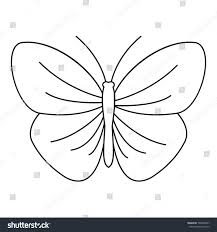 butterfly strip icon outline illustration butterfly stock vector