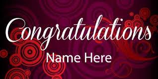 congratulation banner banner swirls