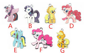 my pony earrings free shipping lot 10 pcs multicolor mixed my pony charms