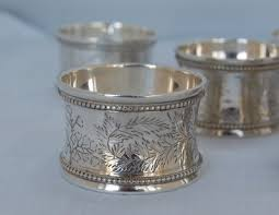 antique silver napkin rings from nigel williams