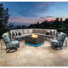 ow lee pacifica modern patio sectional set ow pacifica set1