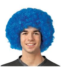 curly halloween wigs crayola blue afro wig men halloween afro wig