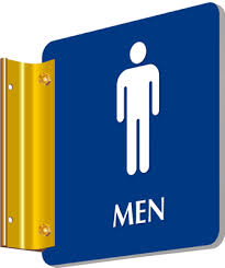 Mens And Womens Bathroom Signs Projecting Bathroom Signs