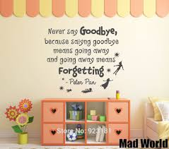 peter pan quote wall stickers sticker creations