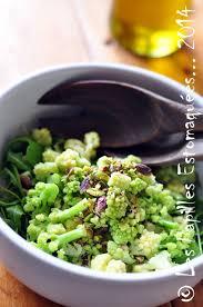 comment cuisiner le chou romanesco salade de choux romanesco mâche pourpier d hiver roquette et
