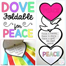 dove peace foldable writing craft