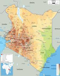 geographical map of kenya physical map of kenya ezilon maps