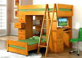 Bunk Bed Desk Combo Bunk Beds Desk Combo View In Gallery Wooden Bunk Bed Desk Combo