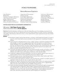 human resource resume vesneske human resources resume 2016