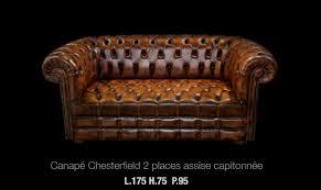 canape cuir marron 2 places canapé 2 places chesterfield en cuir de vachette coloris marron
