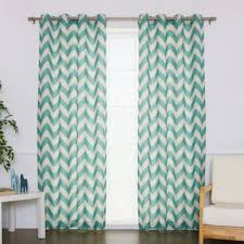 Grommet Chevron Curtains Buy Blue Striped Grommet Curtain Panel From Bed Bath U0026 Beyond