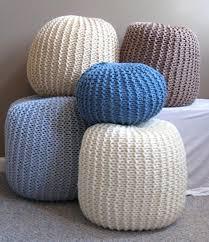 knitted pouf ottoman u2013 ottoman collection blog