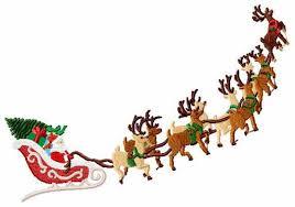 santa sleigh and reindeer santa s sleigh and reindeer christmas machine embroidery 2 sizes