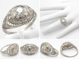 antique engagement rings white filigree engagement rings gold
