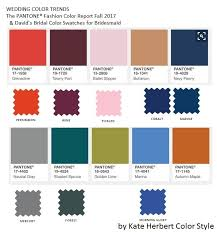 fall 2017 pantone colors david s bridal bridesmaid dress color swatches aligned with fall