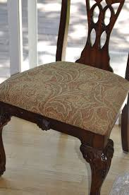 Recovering Dining Room Chair Cushions Recovering A Dining Room Chair Seat Home Decorating Interior