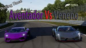 lamborghini veneno and aventador forza motorsport 6 drag race lamborghini aventador vs