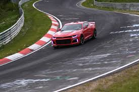 watch the 2017 camaro zl1 smack the nurburgring in its mouth gm