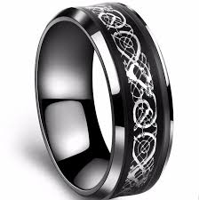 aliexpress buy 2017 wedding band for men 316l black 316l stainless steel ring for wedding band blue carbon fiber