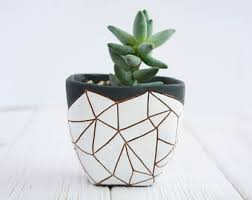 geometric planter etsy
