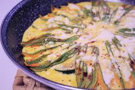 zucchini flower recipe frittata style fiori di zucca curious